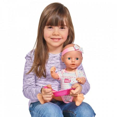 Papusa Simba New Born Baby 38 cm Bebe cu olita si accesorii