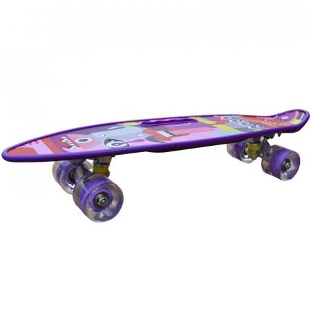 Placa skateboard cu roti silicon, led