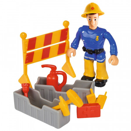 Masina de pompieri Simba Fireman Sam Venus cu remorca, figurina si accesorii
