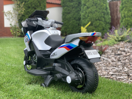 Motocicleta electrica pentru copii XMX609 white, 12V7ah