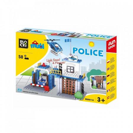 Joc constructie Blocki mubi, Statie politie, 58 piese