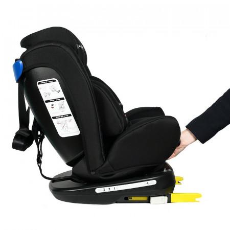 Scaun Auto Tweety BlackJeans cu Isofix rotativ 360 grade Crocodile 0 36 kg baza neagra