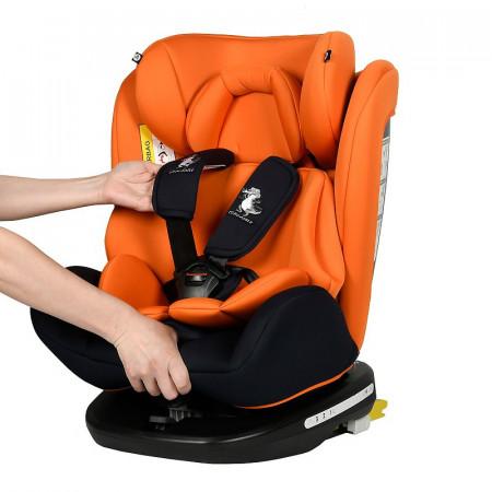 Scaun Auto Tweety Orange cu Isofix rotativ 360 grade Crocodile 0 36 kg baza neagra