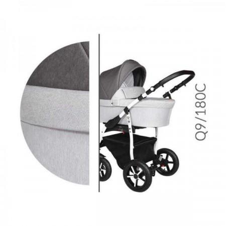 Carucior 3 in 1 Baby Merc Q9 - 180C - Cadru Alb