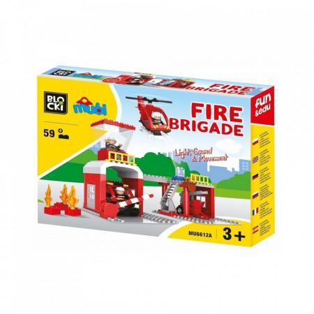 Joc constructie Blocki mubi, Statie pompieri, 59 piese