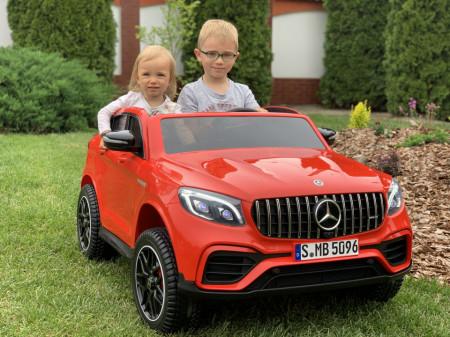 Masinuta electrica cu telecomanda pentru copii, Mercedes Benz GLC63S,4X4, roti EVA,12V10Ah