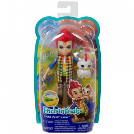 Papusa Enchantimals by Mattel Redward Rooster cu figurina Cluck