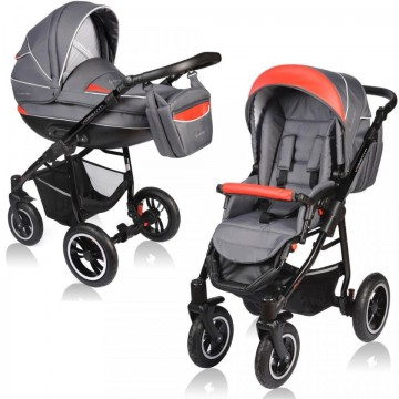 Carucior Crooner 2 in 1 - Vessanti - Red/Gray