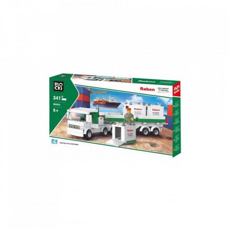 Joc constructie Blocki, Tir+containere, 343 piese