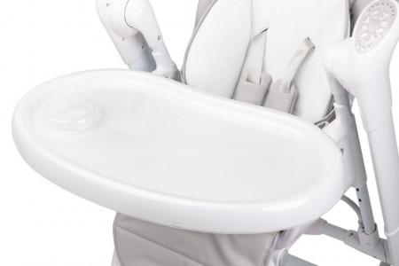 Scaun de masa cu leagan electric Caretero INDIGO 2 in 1 Light Grey