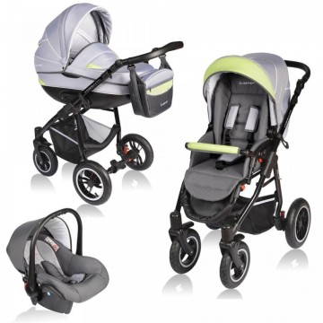 Carucior Crooner 3in1 Vessanti-Green/Gray