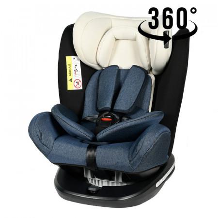 Scaun Auto Tweety BlueJeans cu Isofix rotativ 360 grade 0 36 kg baza neagra