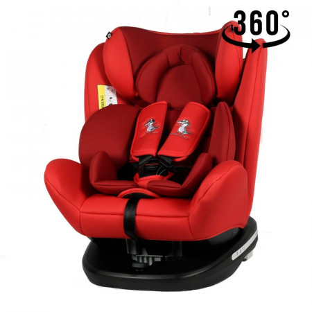 Scaun Auto Tweety Red cu Isofix rotativ 360 grade Crocodile 0 36 kg baza neagra