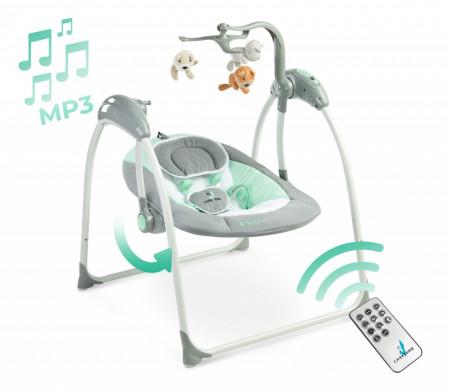 Leagan electric cu telecomanda Caretero LOOP Graphite