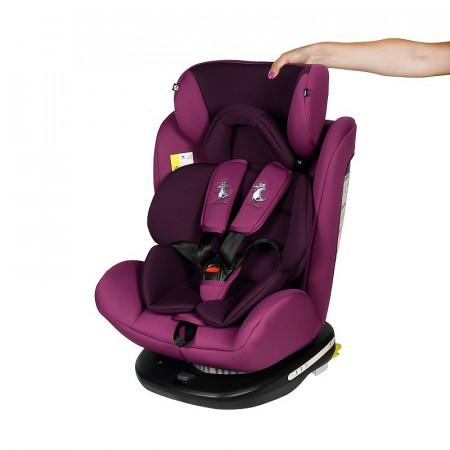 Scaun Auto Tweety Purple cu Isofix rotativ 360 grade Crocodile 0 36 kg baza neagra