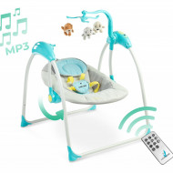 Leagan electric cu telecomanda Caretero LOOP Blue