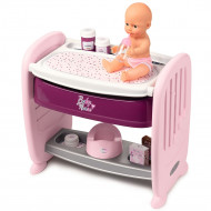 Patut Co-Sleeper pentru papusi Smoby Baby Nurse 2 in 1