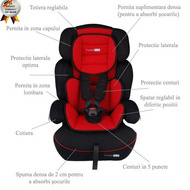 BabyGo - Scaun Auto Freemove Red