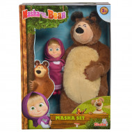 Set Simba Masha and The Bear papusa Masha 12 cm si ursulet de plus 25 cm