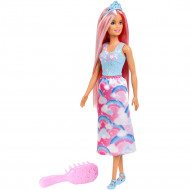 Papusa Barbie by Mattel Dreamtopia cu perie