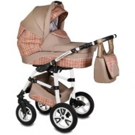 Carucior Flamingo Easy Drive 3 in 1 - Vessanti - Beige