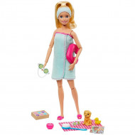 Set Barbie by Mattel Wellness and Fitness papusa cu figurina si accesorii GJG55