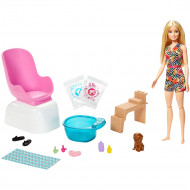 Set Barbie by Mattel Wellness and Fitness Salonul de unghii
