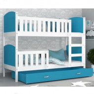 Patut tineret MyKids 2 in 1 Tami Color White/Blue-190x80