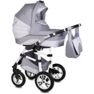 Carucior Flamingo Easy Drive 3in1 Vessanti-Light Gray