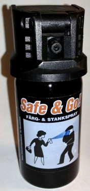Safe & Go! ® Licenfri Personskyddsspray /Self Defense Colour Spray STAT no.: 65061010 images