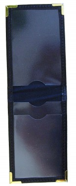 Polis ID fodral i svart läder / Swedish Police ID Badge Holder Black STAT no.:  42023100 images