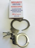 NIJ Certified Stainless Steel Police Professional Handcuffs STAT no.: 83014090