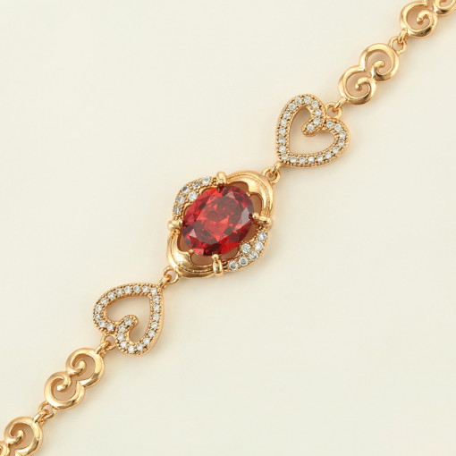 Bratara 18 K Gem Heart