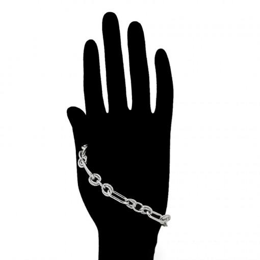 """Bratara rodiata 19-21 cm """"Chain"""""""