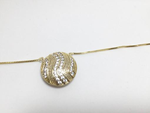 """Lantisor placat cu aur de 14K, """"Artemis """""""