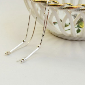 925 Cataleya silver earrings