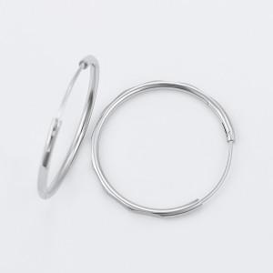 Cercei cercuri rodiati Diametru 3 cm