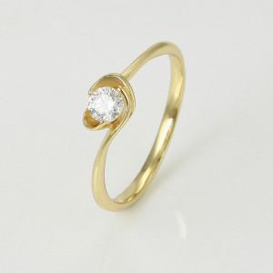 Inel placat cu aur de 14K, Sanziana