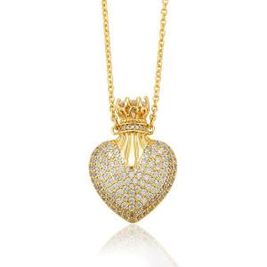 "Lantisor placat cu aur de 14 K ""Royal Heart"""
