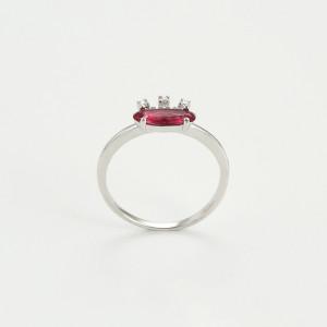 Rhodinierter Ring