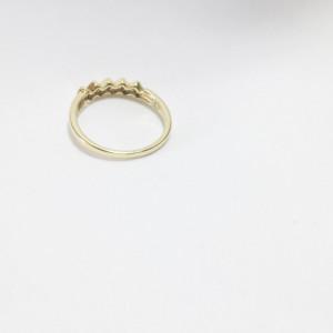"Inel placat cu aur de 14K, ""Wedding"""