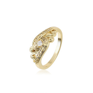 "14 K gold plated ring ""Sophie"""