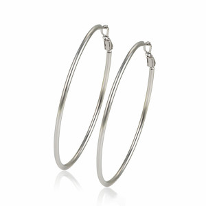 Cercei rodiati Big Hoops