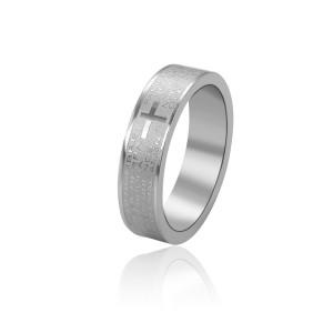 Rhodium-plated wedding ring
