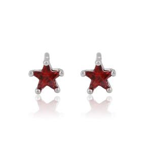 White stub earrings
