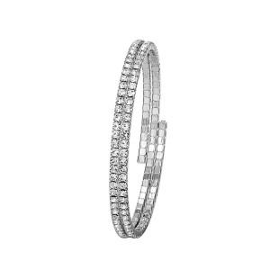 Rhodium-plated bracelet