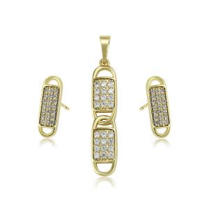Schmuck-Set mit Ohrringen, Halskette und Anhänger