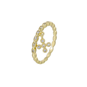 14 K plated ring