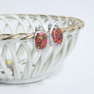 925 Silver Earrings Woman