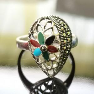 925 Silver Ring Clotilde